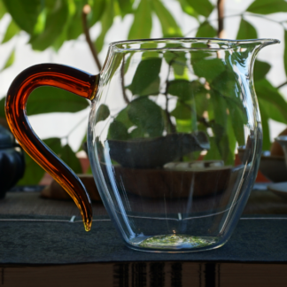 Brown Handle Glass Faircup